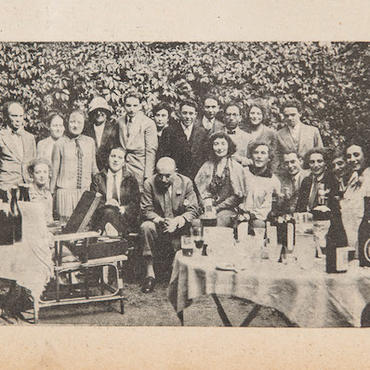 Party at the Chagall's home in Paris