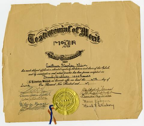 Moler System Certificate