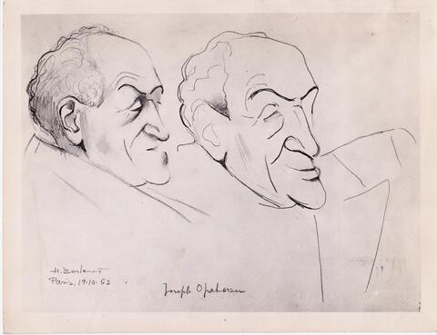 yosef portrait and caricature