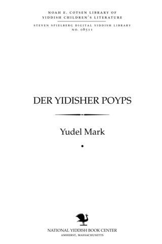 Thumbnail image for Der Yidisher poyps