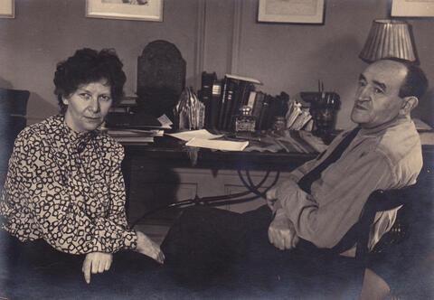 Yosef and Adela at desk