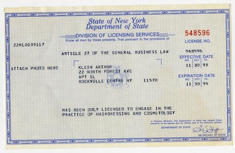 New York Hairdressing Licenses
