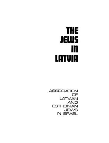 Thumbnail image for The Jews in Latvia