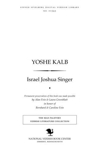 Thumbnail image for Yoshe Ḳalb roman
