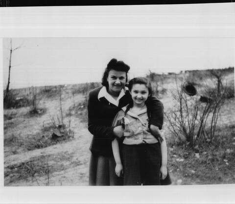 Rita Katz with her Hebrew teacher Zipora