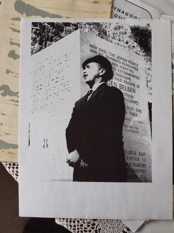 Moshe Kraus Singing at Bergen Belsen Memorial