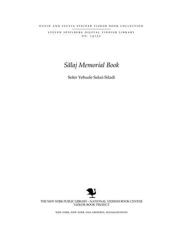 Thumbnail image for Sefer Yehude Salaź-Siladi