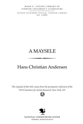 Thumbnail image for A mayśele Anale