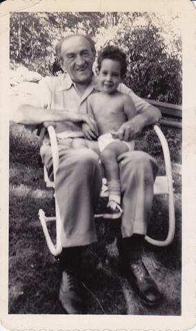 Yosef and Dan Opatoshu at Croton Falls