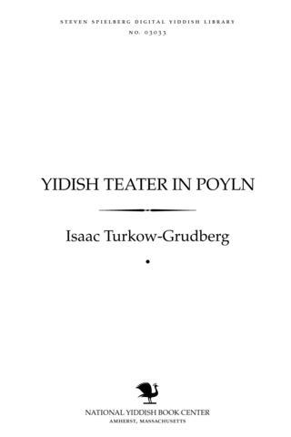 Thumbnail image for Yidish ṭeaṭer in Poyln