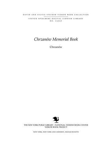 Thumbnail image for Chrzanów : the life and destruction of a Jewish shtetl