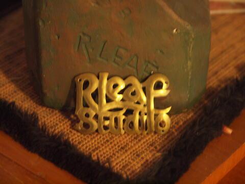 R. Leaf Studio Gold Sign