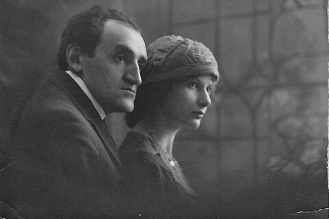 Adela and Yosef Opatoshu portrait