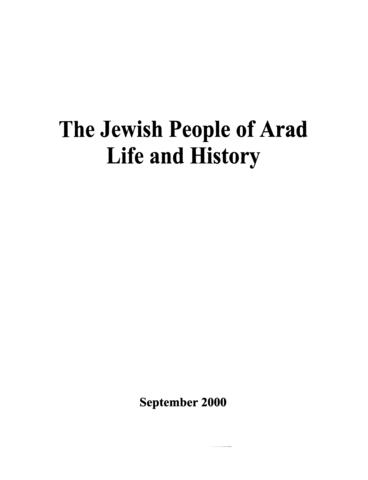 Thumbnail image for The Jewish people of Arad : life and history