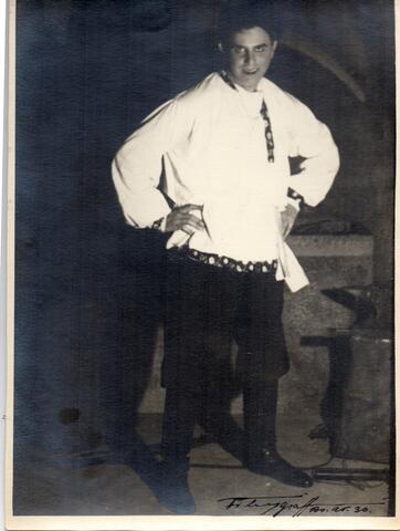 """Rick Grossman Photograph - Rick's Father, Irving Grossman in """"Russian Wedding"""""""