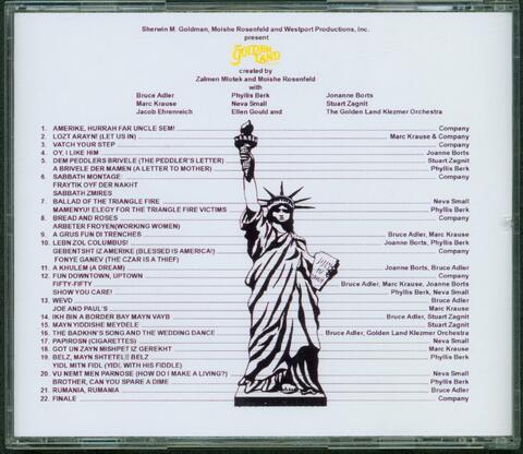 Golden Land CD back cover