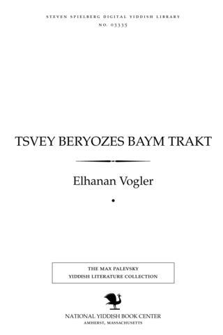 Thumbnail image for Tsṿey beryozes baym ṭraḳṭ poeme