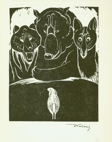 Mshalim bear and sheep illustration
