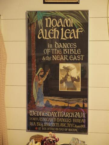 Performance Poster Naomi Aleh Leaf in Dances of the Bible & the Near East