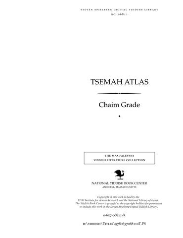 Thumbnail image for Tsemaḥ aṭlas : di Yeshive