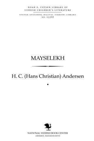 Thumbnail image for Mayselekh : miṭ ilusṭratsyes
