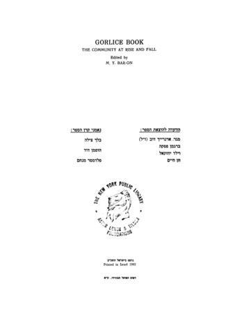 Thumbnail image for Sefer Gorlitsah : ha-ḳehilah be-vinyanah uve-ḥurbanah