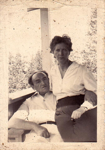 yosef and adela on porch