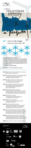 Curso Trajetorias Judaicas No Rio de Janeiro Info Card from Rio Art Museum 2