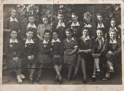 School Picture in the Ghetto, 1942