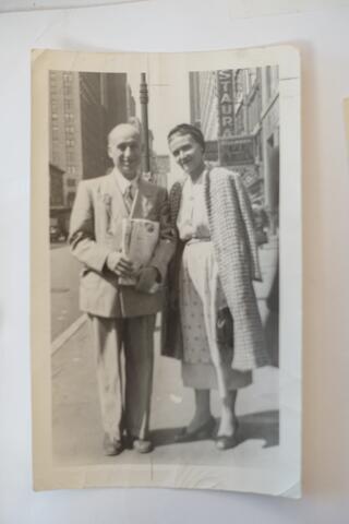 Kadya Molodowsky and husband Simkhe Lev in America