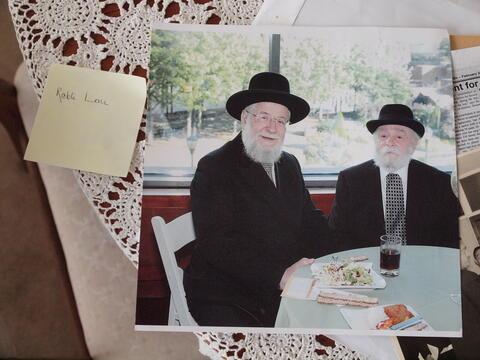 Moshe Kraus and Chief Rabbi Yisrael Meir Lau