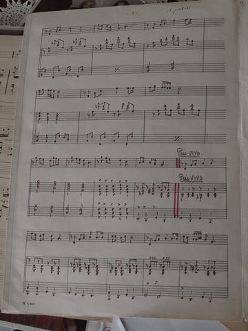 Handwritten and Annotated Sheet Music 3