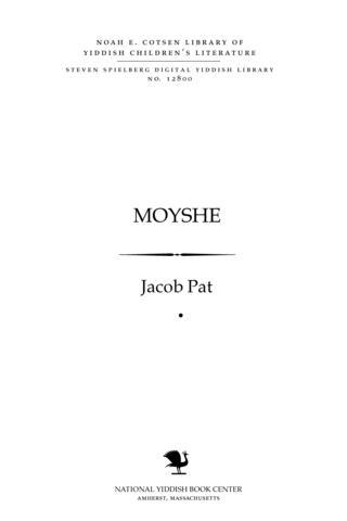 Thumbnail image for Mosheh dertseylṭ far ḳinder