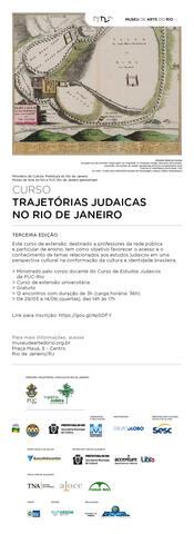 Curso Trajetorias Judaicas No Rio de Janeiro Info Card from Rio Art Museum