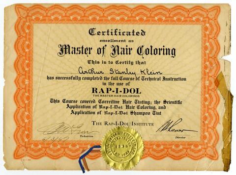 Certificate Master of Hair Coloring