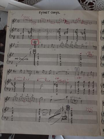 Eyshet Chayil Sheet Music from Repertory Cantor Moshe Kraus Page 1