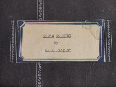God's Country by M. K. Taylor
