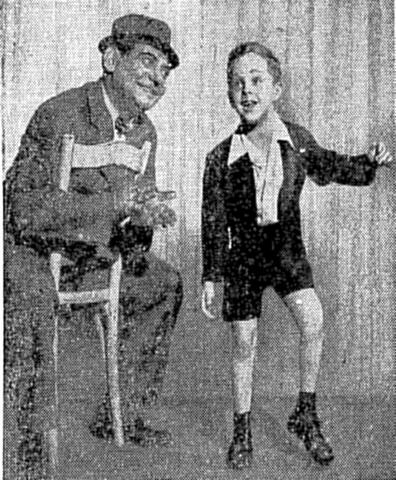 """Rick Grossman Photograph - New York Times Photograph of Rick Grossman at age 6 with Irving Jacobson in """"Wish Me Luck"""""""