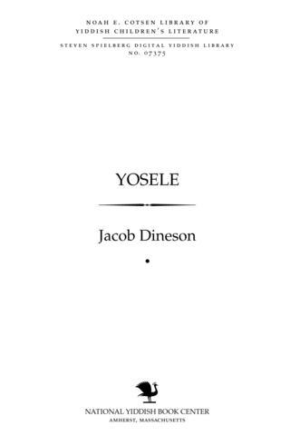 Thumbnail image for Yosele dertseylung fun Idishn lebn
