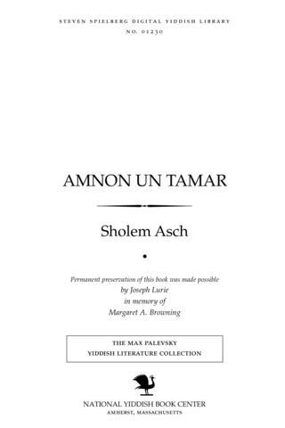 Thumbnail image for Amnon un Tamar