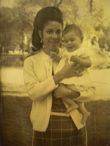 Thelma Oldak Finkler Photograph - Thelma's Mother Holding Baby Esther