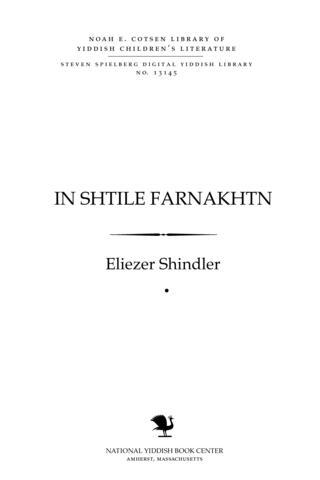 Thumbnail image for In shṭile farnakhṭn mayśelekh fun Mizreḥ un Mayrev