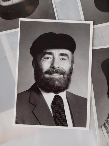 Moshe Kraus Portrait Smiling