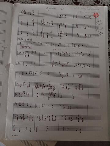 Handwritten and Annotated Sheet Music 2
