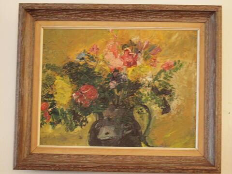 Still Life of Flowers in a Pitcher by Celia Dropkin