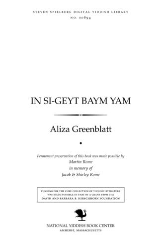 Thumbnail image for In si-geyṭ baym yam