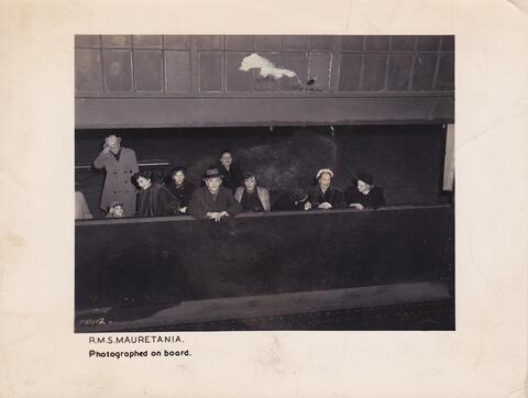 Yosef on a boat