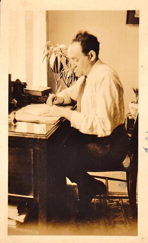 yosef at desk