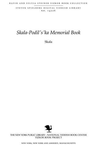 Thumbnail image for Skala. Editorial board: Max Mermelstein (Weidenfeld) Chairman, Chaim Brettler ... [et al.]