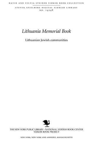 Thumbnail image for Lithuanian Jewish communities